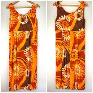 Jams World Flower Explosion Rayon Sleeveless Dress